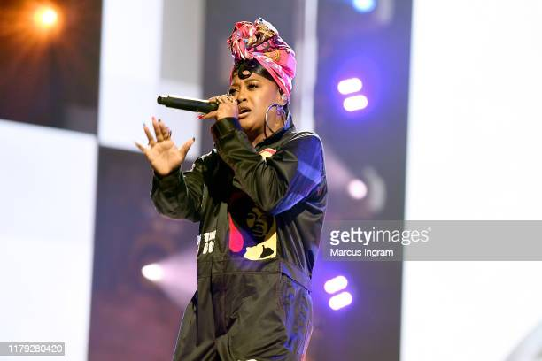 Rapsody performs onstage at the BET Hip Hop Awards 2019 at Cobb Energy Center on October 05 2019 in Atlanta Georgia