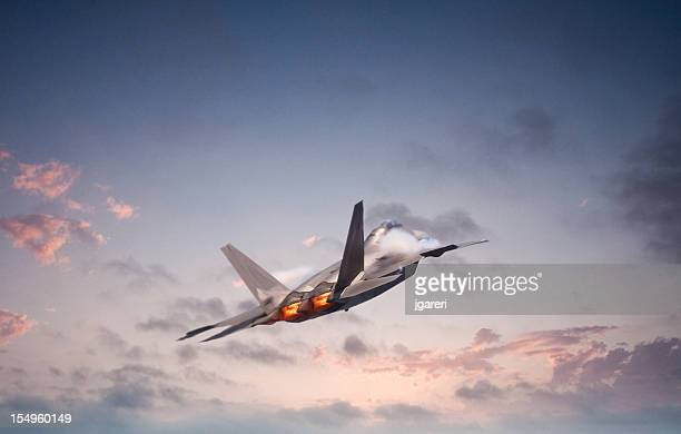 f22 raptor - us air force stock pictures, royalty-free photos & images