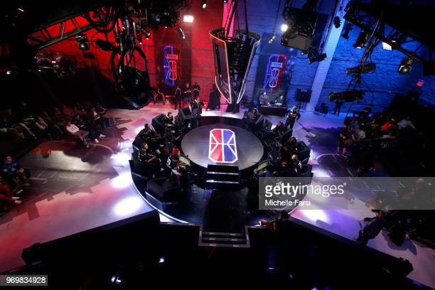 Raptors Uprising Gaming Club and Blazer5 Gaming during the NBA 2K League Mid Season Tournament on June 8 2018 at the NBA 2K League Studio Powered by...