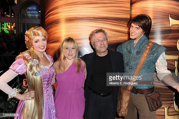 Rapunzel Anna Rose Menken composer Alan Menken and Flynn Ryder arrive at Walt Disney Pictures Presents the Premiere of 'Tangled' at the El Capitan...