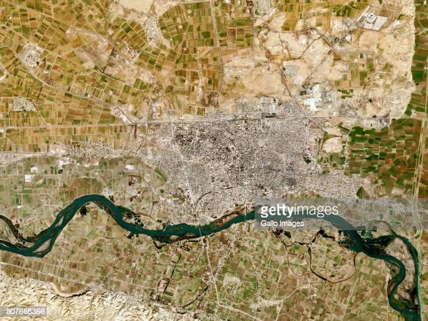 Raqqa city is in central Syria located on the northern bank of the Euphrates River on February 07, 2017.