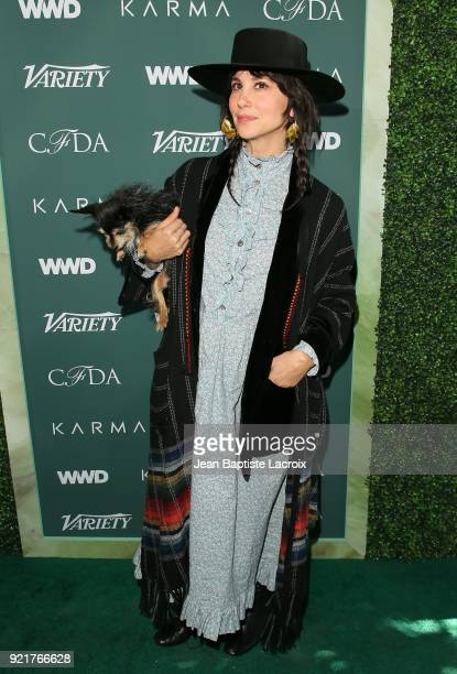 Raquel Allegra arrives to the Council of Fashion Designers of America luncheon held at Chateau Marmont on February 20 2018 in Los Angeles California