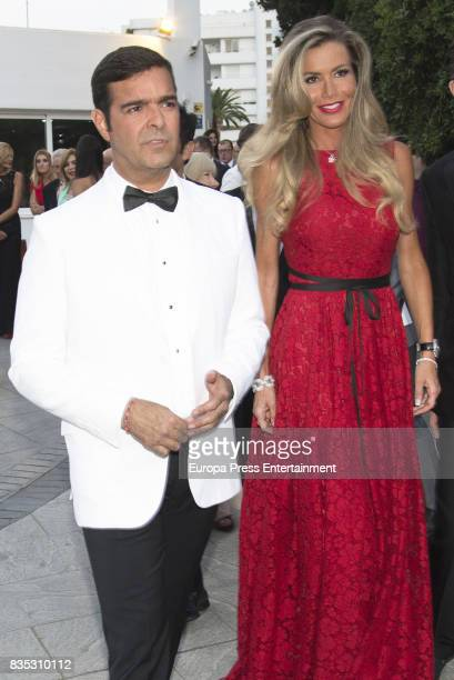 Raquel Bernal and Pablo Montero attend XXXIV AECC Gala Dinner at Real Club de Golf Guadalmina on August 5 2017 in Marbella Spain