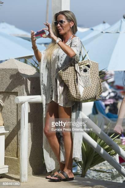 Raquel Bernal is seen on August 6 2017 in Marbella Spain