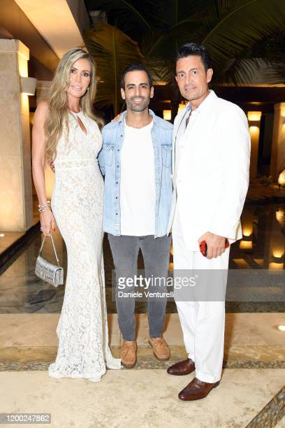 Raquel Bernal Maurice Fadida and Fernando Colunga attend Cana Dorada Film Music Festival White Gala Latin Night on January 17 2020 in Punta Cana...