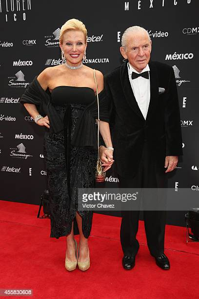 Raquel Bessudo and Leon Bessudo attend the Sophia Loren's 80th Birthday dinner at Museo Soumaya on September 20 2014 in Mexico City Mexico