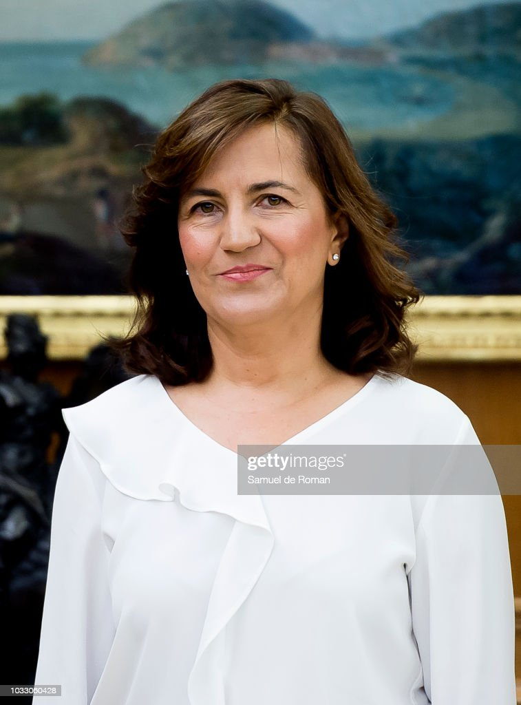 Raquel Cabezudo during the audiences at Zarzuela Palace on September 14, 2018 in Madrid, Spain.