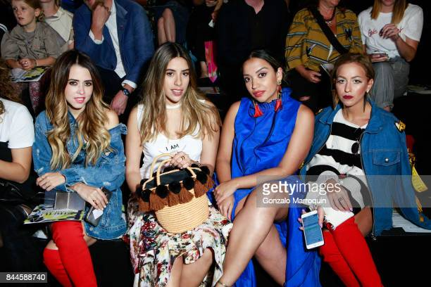 Raquel Canas Alejandra Echeverria Alexa Carolina Chacon and Nati Saal during the Bibhu Mohapatra fashion show with Narayan Jewellers in association...