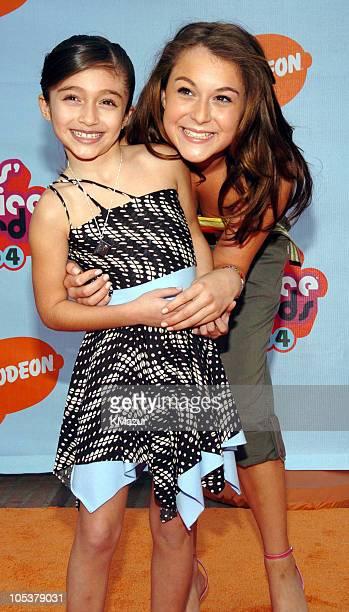 Raquel Castro and Alexa Vega during Nickelodeon's 17th Annual Kids' Choice Awards Orange Carpet at Pauley Pavillion in Westwood California United...