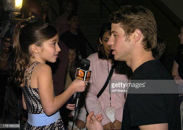 Raquel Castro and Benjamin McKenzie during Nickelodeon's 17th Annual Kids' Choice Awards Backstage at Pauley Pavillion in Westwood California United...