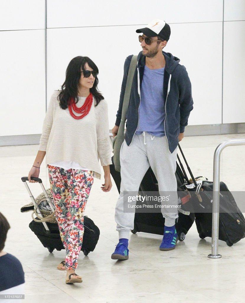 Raquel del Rosario and Pedro Castro Sighting In Madrid - July 01, 2013