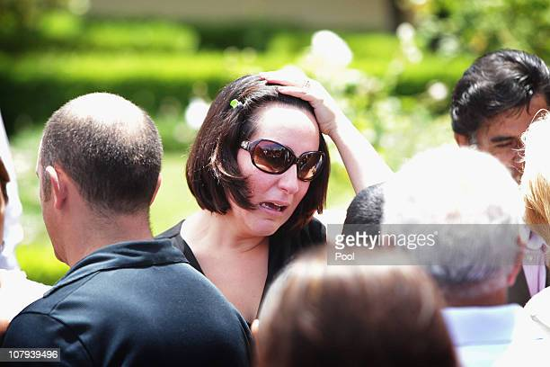 Raquel Duque wife of Wilson Duque attends the Funeral of Wilson Duque at Eastern Suburbs Cremetorium on January 7 2011 in Sydney Australia Wilson...