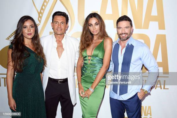Raquel Flores Fernando Colunga Madalina Ghenea and Julián Gil attends Cana Dorada Film Music Festival Soft Opening Dominican Night on January 16 2020...