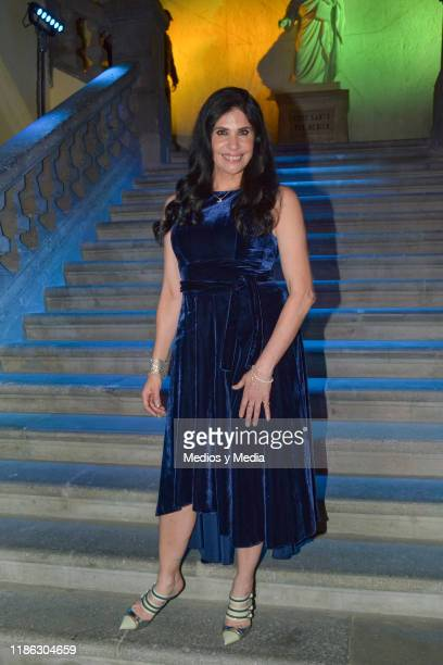 Raquel Garza poses for photos during the presentatiion of the serie 'Medicos' latin adaptacion of Greys Anatomy on November 7 2019 in Mexico City...