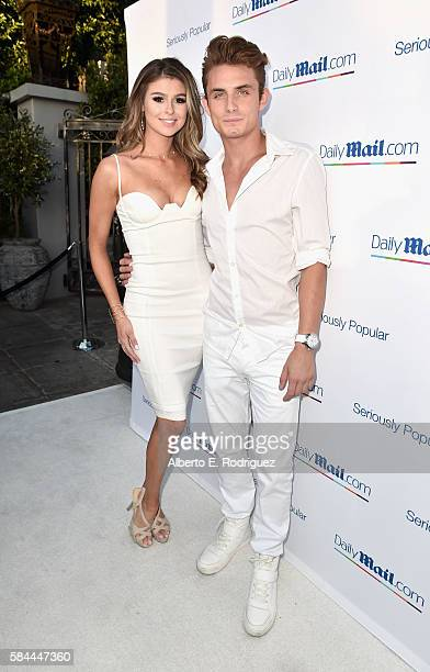 Raquel Leviss and DJ James Kennedy attend the Daily Mail Summer White Party with Lisa Vanderpump at Pump on July 27 2016 in Los Angeles California