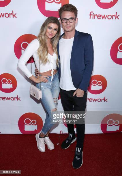 Raquel Leviss and James Kennedy attend the Firework APP launch at Two Bit Circus on September 13 2018 in Los Angeles California