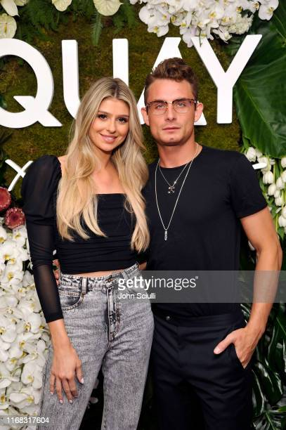Raquel Leviss and James Kennedy attend the Quay x Chrissy Teigen launch event at The London West Hollywood on August 15 2019 in West Hollywood...