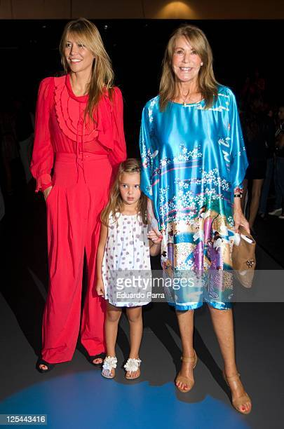 Raquel Merono and Paquita Torres are seen attending Cibeles Fashion Week S/S 2012 at Ifema on September 17 2011 in Madrid Spain