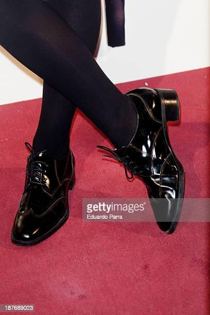 Raquel Merono attends Alex O'Dogherty new album presentation party photocall at La Latina theatre on November 11 2013 in Madrid Spain