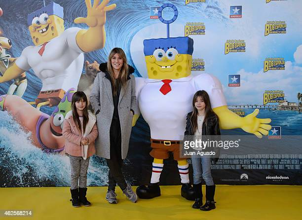 Raquel Merono attends the 'Bob Esponja' Premiere at Kinepolis Cinema on January 31 2015 in Madrid Spain