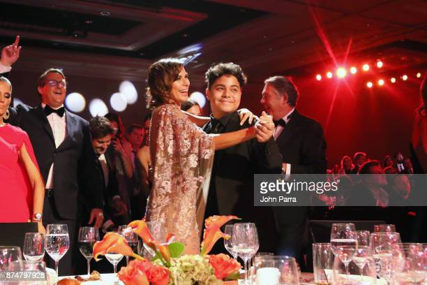 Raquel Perera watches Alejandro Sanz perform during the 2017 Person of the Year Gala honoring Alejandro Sanz at the Mandalay Bay Convention Center on...