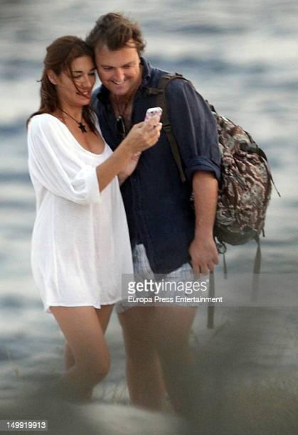 Raquel Revuelta and Raul Garcia 'El Tato' are seen on July 20 2012 in Ibiza Spain