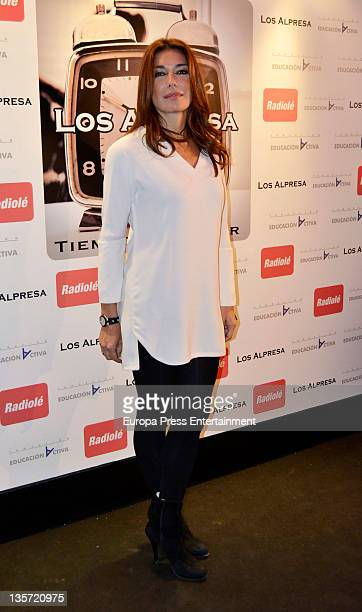Raquel Revuelta attends 'Los Alpresa' concert at Sala Pacha on December 12 2011 in Madrid Spain
