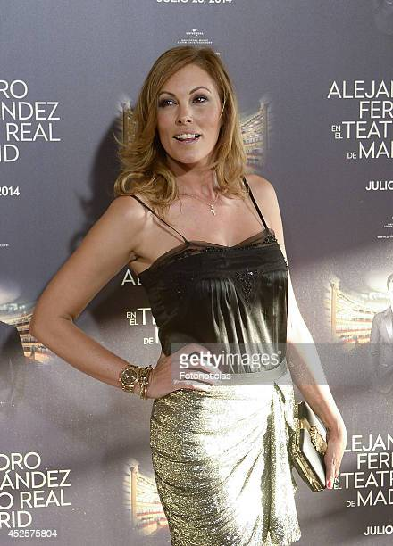 Raquel Rodriguez attends Alejandro Fernandez concert at Teatro Real on July 23 2014 in Madrid Spain