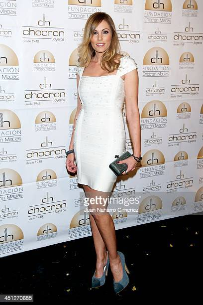 Raquel Rodriguez attends Chocron Jewelry Charity Catalogue presentation at Teatriz Restaurant on November 21 2013 in Madrid Spain