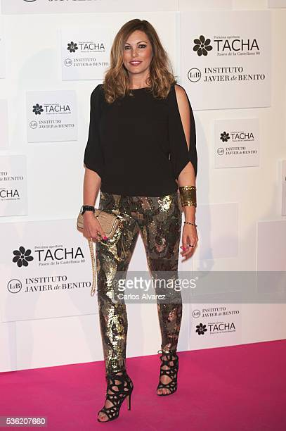 Raquel Rodriguez attends Tacha Beauty and Javier De Benito Institute party at the Santa Coloma Palace on May 31 2016 in Madrid Spain
