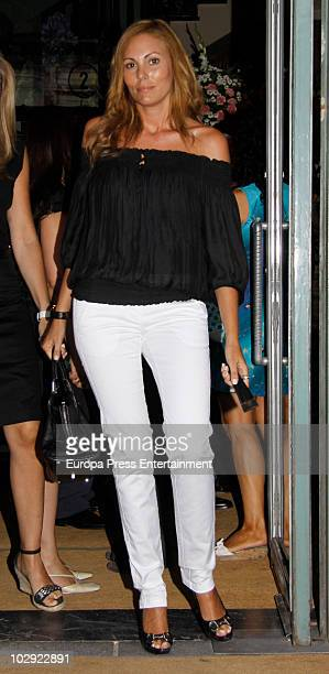 Raquel Rodriguez attends the chapel of rest for Eduardo Sanchez Junco editorinchief of 'Hola' magazine on July 14 2010 in Madrid Spain The owner and...
