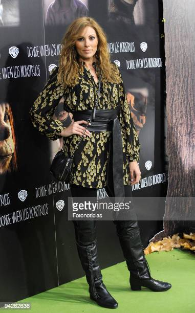 Raquel Rodriguez attends the premiere of ''Where The Wild Things Are'' at Callao cinema on December 10 2009 in Madrid Spain