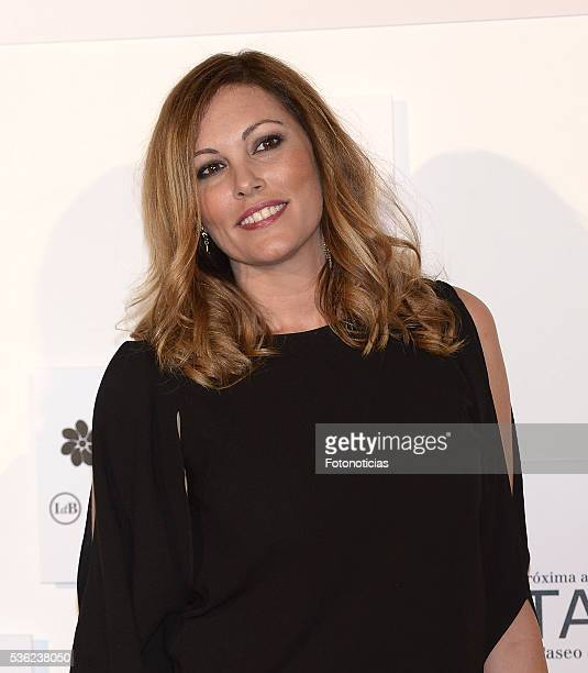 Raquel Rodriguez attends the Tacha Beauty and Javier de Benito Institute party at the Palacio de Santa Coloma on May 31 2016 in Madrid Spain