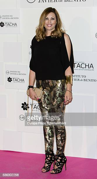 Raquel Rodriguez attends the Tacha Beauty and Javier de Benito Institute party on May 31 2016 in Madrid Spain