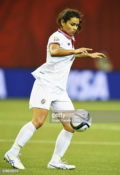 Raquel Rodriguez Cedeno of Costa Rica in action during the FIFA Women's World Cup 2015 group E match between Spain and Costa Rica at Olympic Stadium...