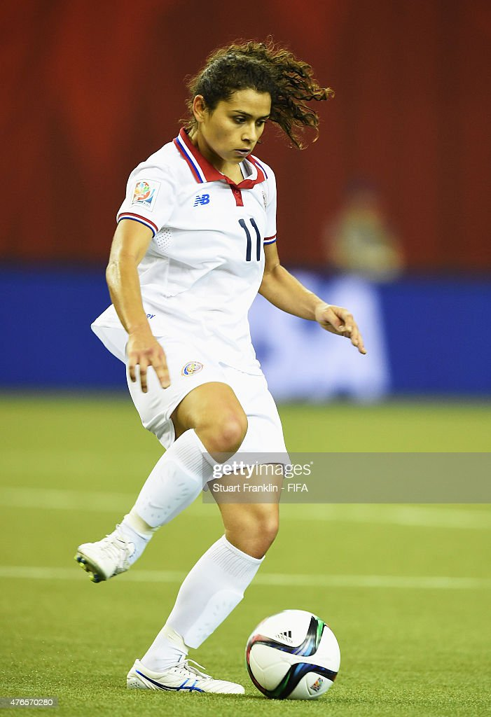 Raquel Rodriguez Cedeno of Costa Rica in action during the FIFA Women's World Cup 2015 group E match between Spain and Costa Rica at Olympic Stadium on June 9, 2015 in Montreal, Canada.
