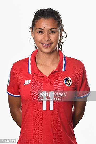 Raquel Rodriguez Cedeno of Costa Rica poses during the FIFA Women's World Cup 2015 portrait session at Sheraton Le Centre on June 6 2015 in Montreal...