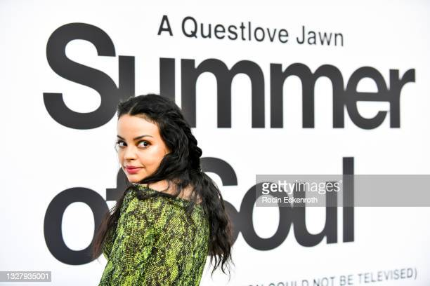 """Raquel Rojas attends the Cinespia Special Screening of Fox Searchlight and Hulu's """"Summer Of Soul"""" with Questlove at The Greek Theatre on July 09,..."""