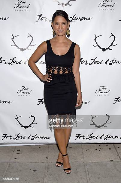 Raquel Roxanne Rocsi Diaz attends For Love and Lemons annual SKIVVIES party cohosted by Too Faced and performance by The Shoe at The Carondelet House...