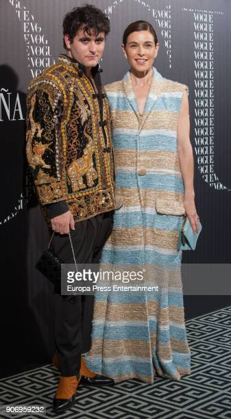 Raquel Sanchez Silva and Palomo Spain attend the homage dinner to Victoria Beckham hosted by Vogue Magazine at Santo Mauro hotel on January 18 2018...