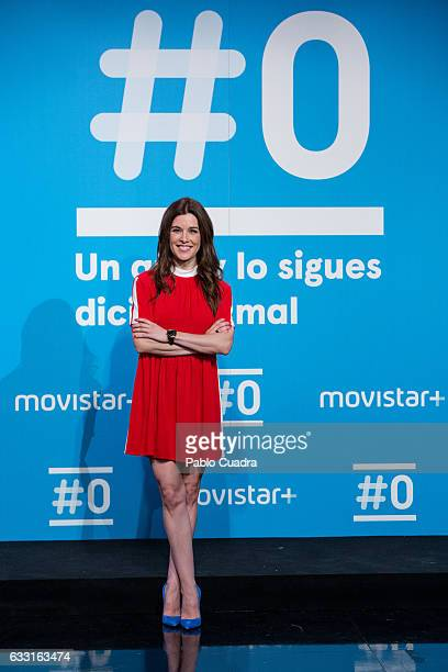 Raquel Sanchez Silva attends a photocall for the 'Movistar channel' first anniversary at 'Movistar' Studios on January 31 2017 in Madrid Spain