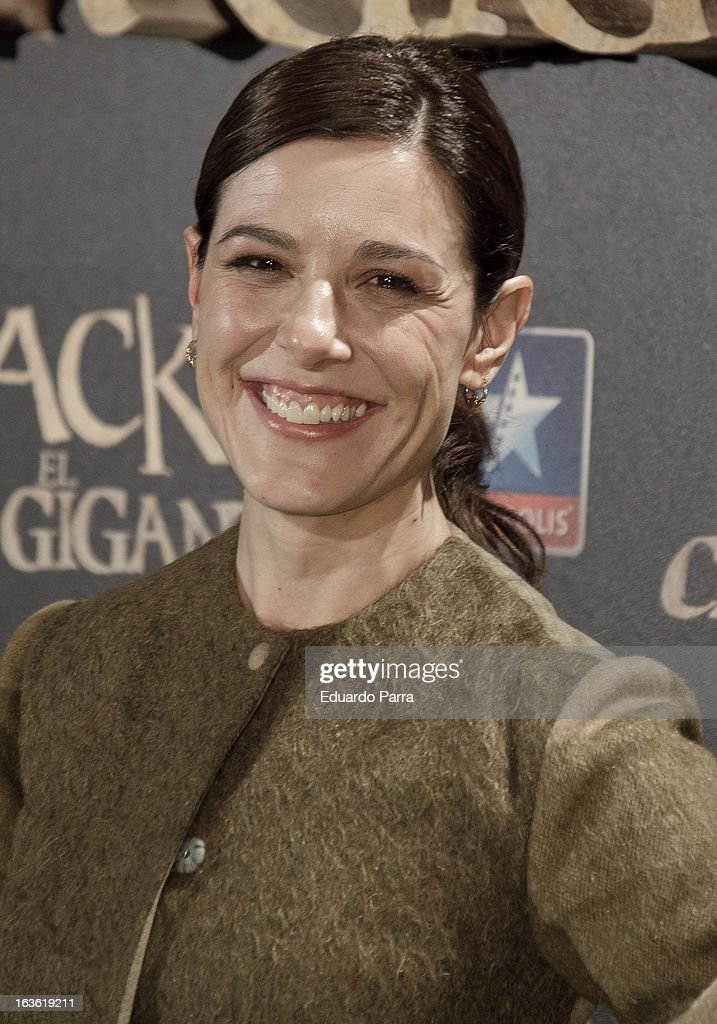 Raquel Sanchez Silva attends 'Jack el Caza Gigantes' premiere photocall at Kinepolis cinema on March 13, 2013 in Madrid, Spain.