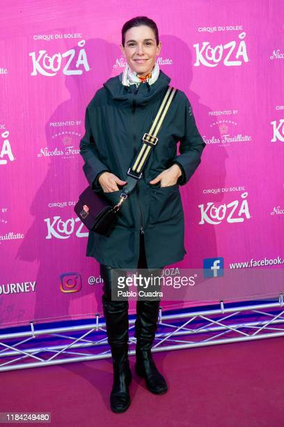 Raquel Sanchez Silva attends the Cirque Du Soleil 'Kooza' premiere on October 29 2019 in Madrid Spain