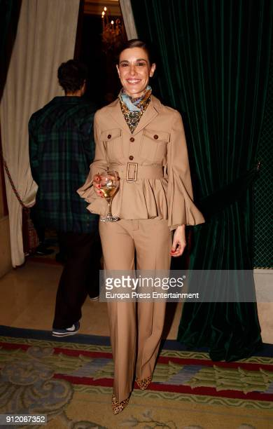 Raquel Sanchez Silva attends the front row of Palomo Spain show during Mercedes Benz Fashion Week Madrid Autumn / Winter 2018 on January 28 2018 in...