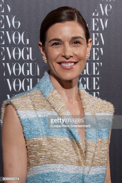 Raquel Sanchez Silva attends the homage dinner to Victoria Beckham hosted by Vogue Magazine at Santo Mauro hotel on January 18 2018 in Madrid Spain