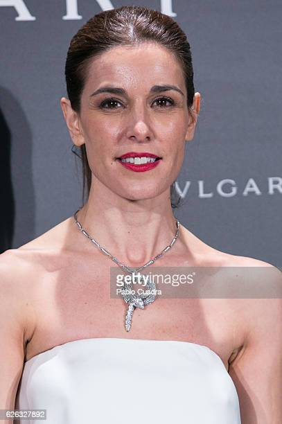 Raquel Sanchez Silva attends the opening of the exhibition 'Bulgari and Roma' at Italian Embassy on November 28 2016 in Madrid Spain