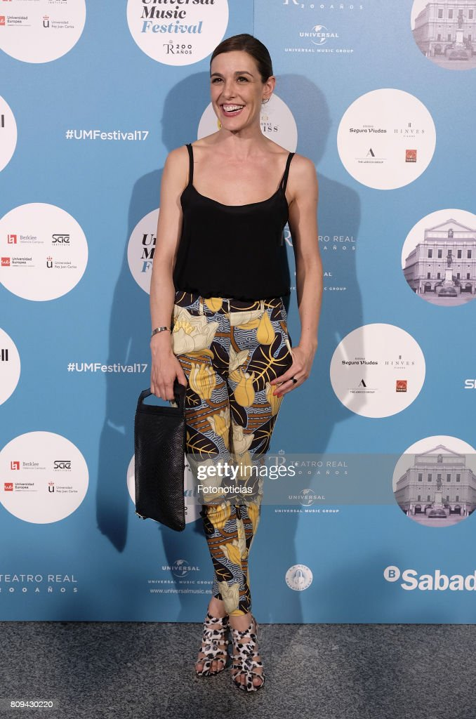 Raquel Sanchez Silva attends the Universal Music Festival Sting's concert at the Teatro Real on July 5, 2017 in Madrid, Spain.