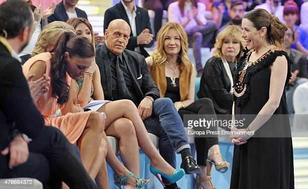 Raquel Sanchez Silva Mila Ximenez Raquel Rodriguez Kiko Matamoros and Isabel Rabago attend 'Supervivientes' gala on May 24 2015 in Madrid Spain