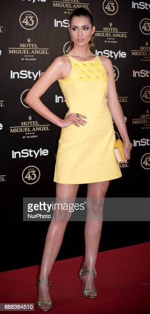 Raquel Tejedor attends El Jardin del Miguel Angel party photocall at Miguel Angel hotel on May 24 2017 in Madrid Spain