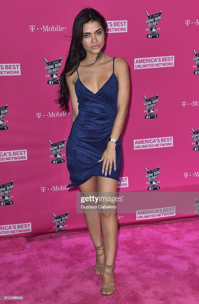 Raquel Vera arrives at the T-Mobile Presents Derby After Dark at Faena Forum on uly 10, 2017 in Miami Beach, Florida.